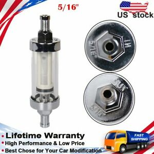 Universal Fuel Filter Clear View 9747 Chrome Inline Fuel Filter 5 16 Inch Inlet