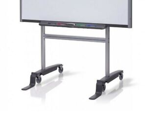 Smart Fs sb Mobile Floor Stand 77 To 87 Smartboard Whiteboards