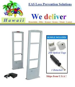 To Hawaii Combo o 200 Optical Tags Eas Rf Security Antenna System Tool