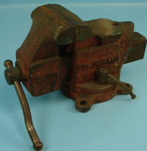 Vtg Columbian Machinist Clamp Pressing Vise Made In Cleveland Ohio D43 1 2