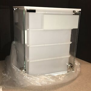Swarovski Acrylic Tabletop Locked Earring Display Case with Keys New In Box