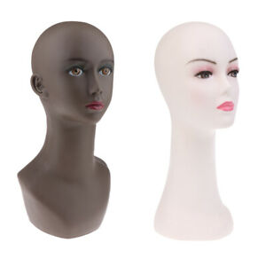 Realistic Female Pvc Manikin Mannequin Head Hat Jewelry Display Wig Stands