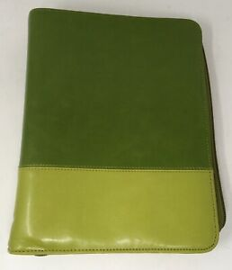 Franklin Covey Binder Planner Organizer Two Tone Green 34561 578