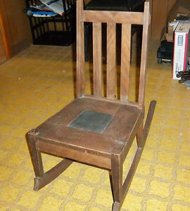 Antique Wooden Child S Rocking Chair From Early 1900 S