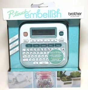 Brother P touch Embellish Ribbon Tape Label Printer Machine 5696