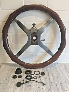 Vintage Wood Tilt Steering Wheel Bauer Ford Model T 17 Inch Chicago Car Truck