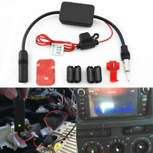 For Universal 12v Auto Car Fm Radio Antenna Signal Amp Vehicle Booster Amplifier