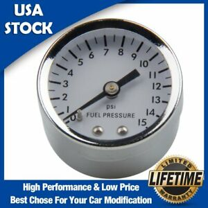 Universal 1 5 Fuel Pressure Gauge 0 15 Psi Aluminum Alloy Adjustable Fuel