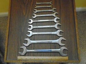 Craftsman Made In Usa Open End Wrench Set 1 1 8 To 1 4 Mechanics Tools