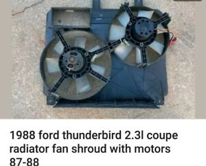 1988 Ford Thunderbird Turbo Coupe 2 3 Electric Radiator Fans With Shroud