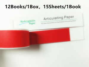 10 Boxes New Dental Articulating Paper Red Clear Impression Straight Bar Type