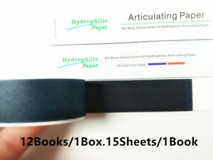 10 Boxes New Dental Articulating Paper Blue Clear Impression Straight Bar Type