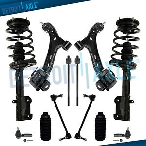 Front Strut Control Arms Suspension Kit For 2005 2008 Ford Mustang Base Gt