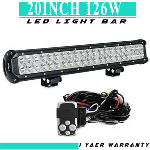 20inch 126w Bumper Led Light Bar For Ford F150 250 350 With Wiring Harness