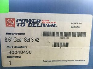 Aam Gm 8 5 8 6 Chevy 10 Bolt Rearend 3 42 Ring And Pinion