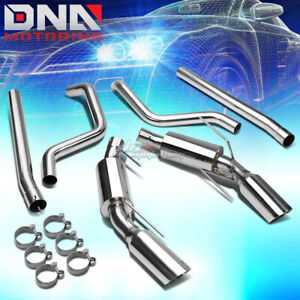 3 75 dual Muffler Tip Stainless Exhaust Catback System For 05 09 Mustang Gt 4 6l