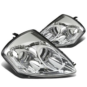 led Halo Rings fit 2000 2005 Mitsubishi Eclipse Pair Chrome Projector Headlight