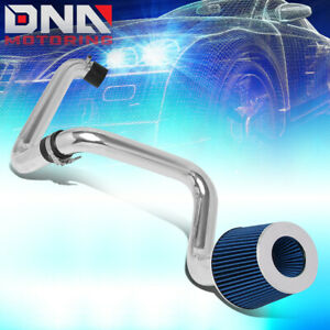 For 2001 2005 Honda Civic 1 7l Aluminum Cold Air Intake System Kit W blue Filter