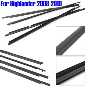 Weatherstrip Window Molding Trim Sill Seal Belt For Toyota Highlander 2008 2010