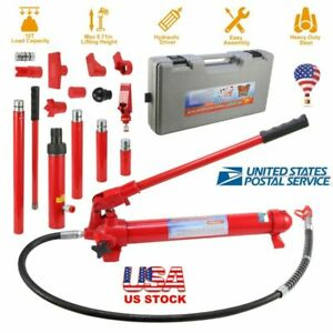 10 Ton Capacity Hydraulic Bottle Jack Ram Pump Auto Repair Tool Kit