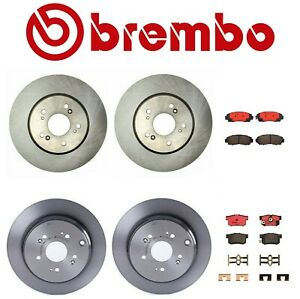 Front And Rear Brake Kit Disc Rotors And Pads Brembo For Acura Rdx Honda Cr V