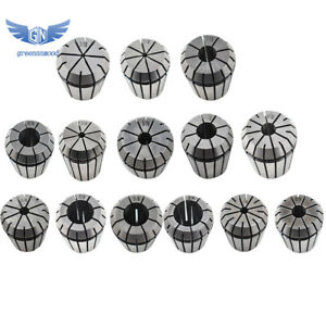 14pcs Er32 Spring Collet Set For Cnc Workholding Engraving Milling Lathe Tool