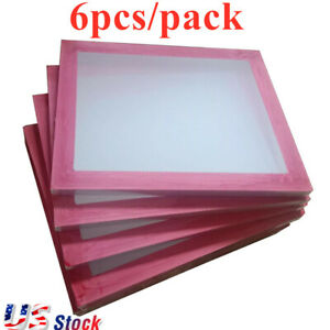 Usa 6 Pcs 18 X 20 Aluminum Screen Printing Frames With 160 White Mesh Count