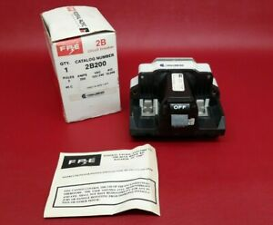 New Federal Pacific Fpe 200 Amp Main Breaker Type 2b 2 Pole