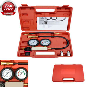 Cylinder Leak Tester 12 14mm Petrol Engine Compression Leakage Detector Kit