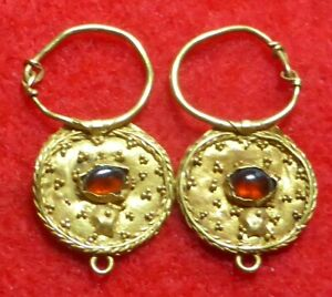 Gold Greek Earrings