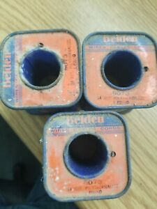 Lot Of 3 Belden 8073 Heavy Armored Poly thermaleze Magnet Wire Nos