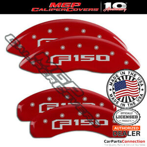 Mgp Caliper Brake Cover Red 10219sf16rd Front Rear For Ford F 150 2018 2019