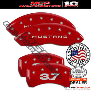 Mgp Caliper Brake Cover Red 10198sm37rd Front Rear For Ford Mustang 2013 2014