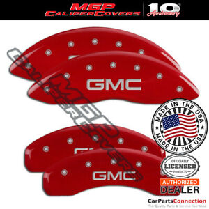 Mgp Caliper Brake Cover Red 34217sgmcrd Front Rear For Gmc Sierra 1500 2019