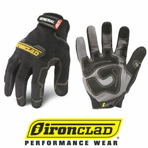 Ironclad Gug General Utility Black Work Gloves Select Size