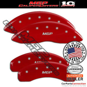 Mgp Caliper Brake Cover Red 42020smgprd Front Rear For Jeep Grand Cherokee 18 19