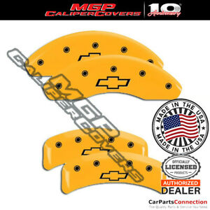 Mgp Caliper Brake Cover Yellow 14026sbowyl Front Rear For Chevrolet Camaro 1997