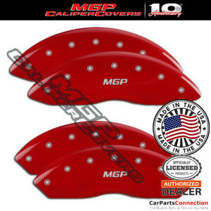 Mgp Caliper Brake Cover Red 14243smgprd Front Rear For Chevy Express 2500 16 17