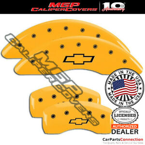 Mgp Caliper Brake Cover Yellow 14250sbowyl Front Rear For Chevy Traverse 18 19