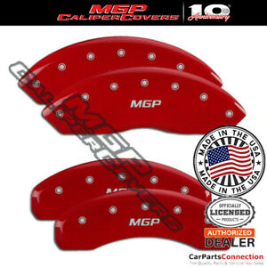 Mgp Caliper Brake Cover Red 36007smgprd Front Rear For Lincoln Mkx 2014 2015