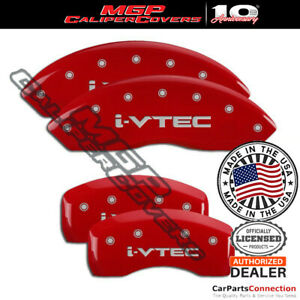 Mgp Caliper Brake Cover Red 39022sivtrd Front Rear For Acura Rdx 2017 2018
