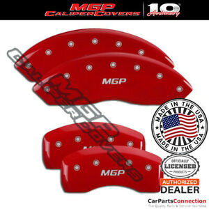Mgp Caliper Brake Cover Red 41117smgprd Front Rear For Jaguar Xk 2008 2009