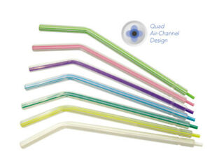 Mark3 Dental Air Water Syringe Tips Plastic Multicolored Crystal Tip Type