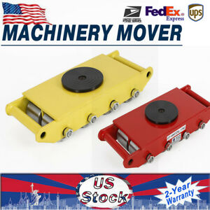 26400lbs Machinery Mover Rolling Skate Dolly Skate Heavy Equipment Load 12 Ton