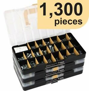 Deluxe Hardware Assortment Kit With Professional no Mix Case 1 300 Piece