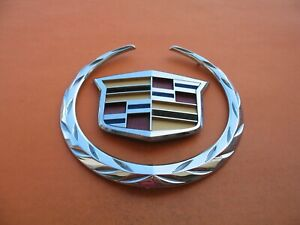 12 13 14 Cadillac Cts Front Grille Chrome Emblem Logo Badge Sign Sy