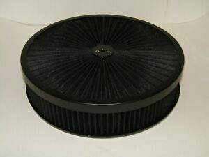 14 X 3 Washable Air Cleaner Filter With High Flow Washable Top Holley