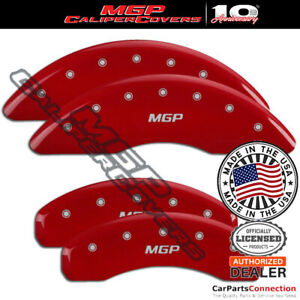 Mgp Caliper Brake Cover Red 15219smgprd Front Rear For Audi Q7 2014 2015