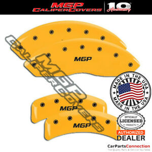 Mgp Caliper Brake Cover Yellow 10095smgpyl Front Rear For Ford Mustang 2003 2004