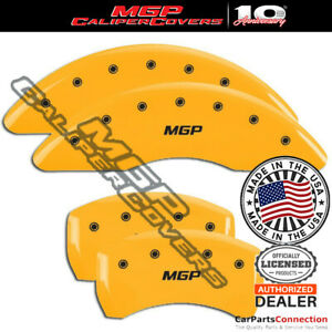 Mgp Caliper Brake Cover Yellow 41109smgpyl Front Rear For Jaguar F Type 16 17